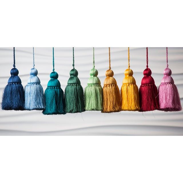 Reinventing the classic tassel in a modern way. Made from soft nylon threads, this Golden Rod color tassel will serve as a...