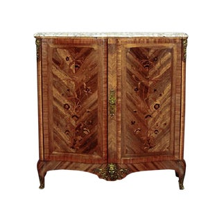 French Neo-Baroque Commode with Marble Top from 19th Century For Sale