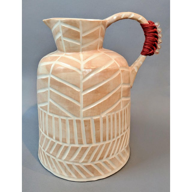 Boho Chic Stoneware Vase and Pitcher For Sale - Image 9 of 9