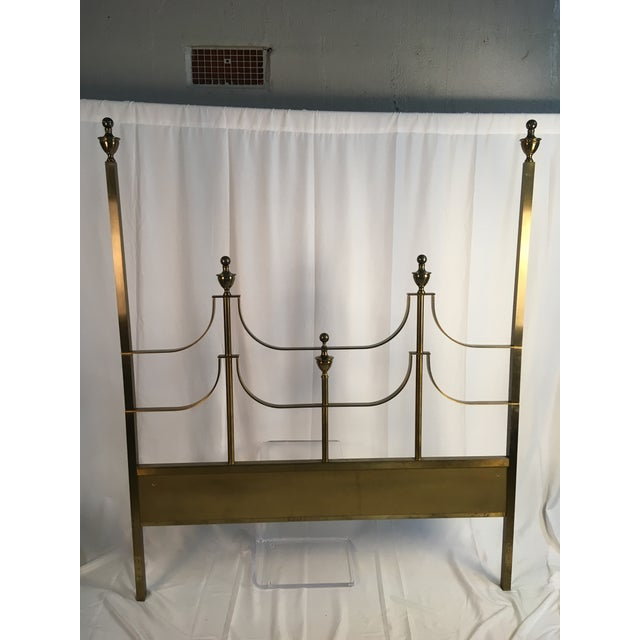 Brass 1960s Vintage Mastercraft Style Headboard For Sale - Image 7 of 11