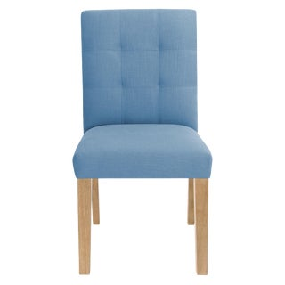 Dining Chair in Linen Denim For Sale