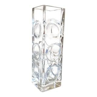 Crystal Vase by Bengt Edenfalk For Sale