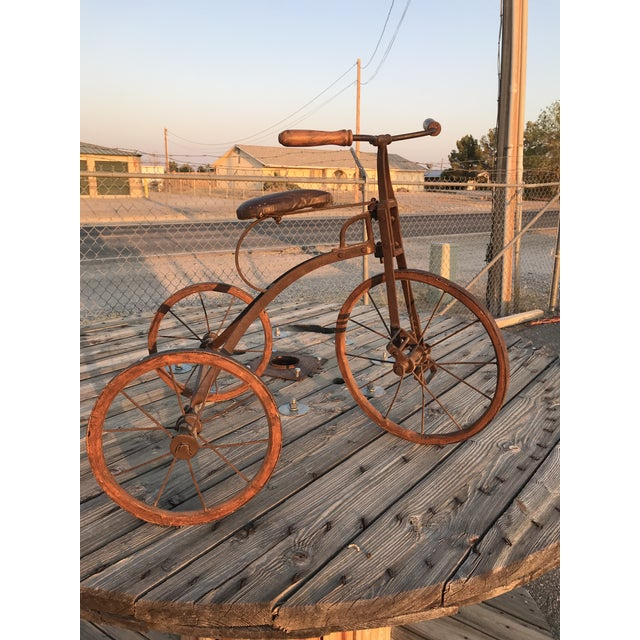 Early 1900s Antique Industrial Cast Iron Tricycle For Sale - Image 13 of 13