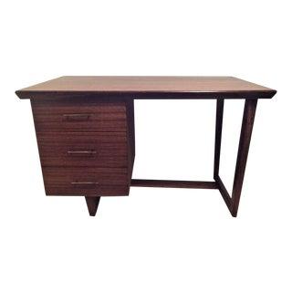 1950s Mid-Century Modern Wooden Tanker Desk For Sale