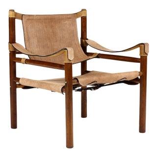 Mid Century Teak Safari Lounge Chair For Sale