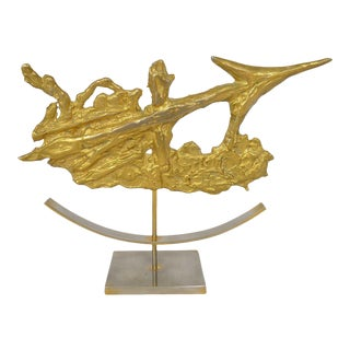 Brutalist Sagittarius Sculpture by Philippe Cheverny For Sale