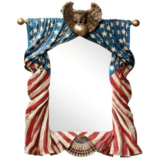 American Flag Framed Mirror