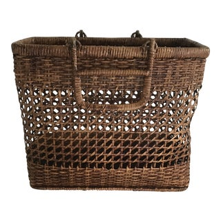 Star Weaved Basket Shopping Bag For Sale