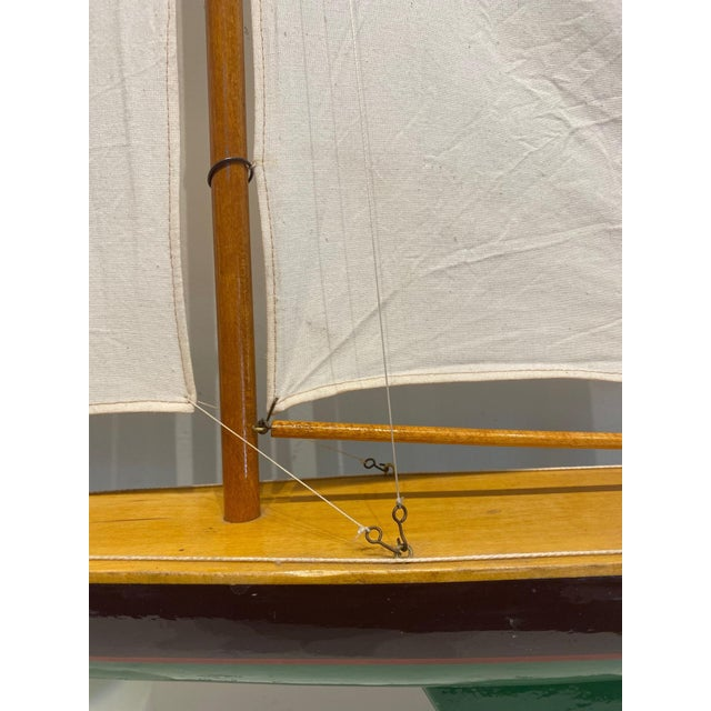 Mid 20th Century Model Sailbaot For Sale - Image 4 of 8