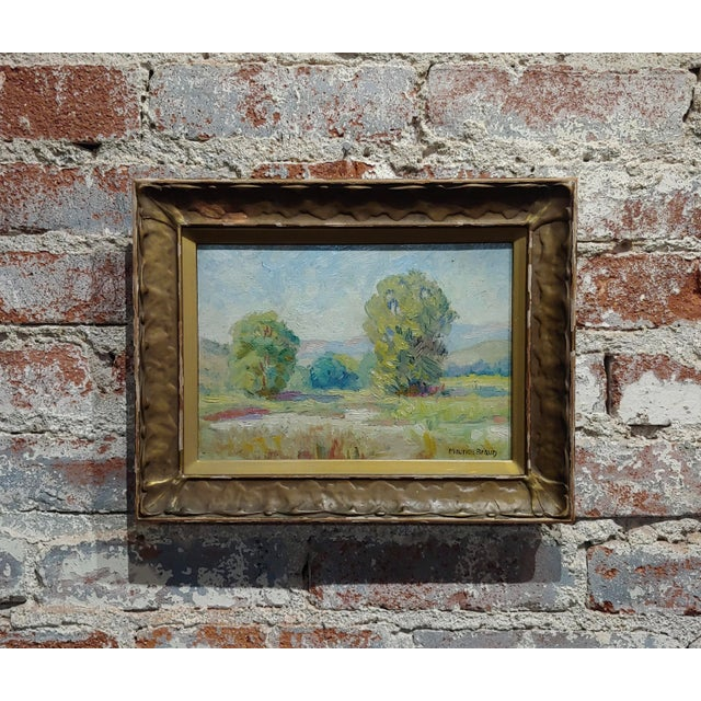 Gold Maurice Braun - Study of a California Landscape -Oil Painting For Sale - Image 8 of 8
