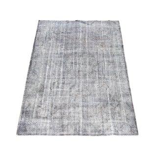 "Vintage Grey Turkish Overdyed Wool Rug - 6' x 9'1"""