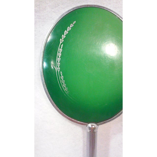 Art Deco Green Hand Mirror - Image 2 of 3