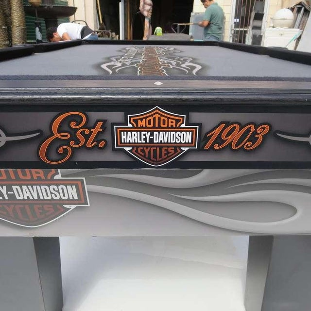 Harley Davidson Custom Pool Table - Image 5 of 8