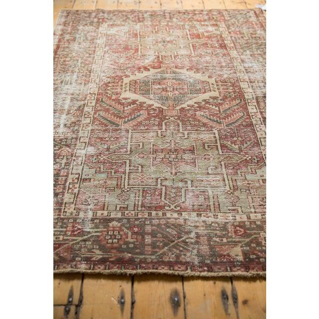 "Cotton Vintage Distressed Karaja Rug - 4'2"" X 6'2"" For Sale - Image 7 of 13"