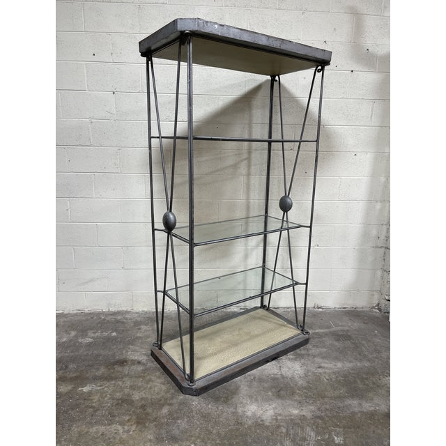 Large Iron and Glass Etageres For Sale - Image 13 of 13