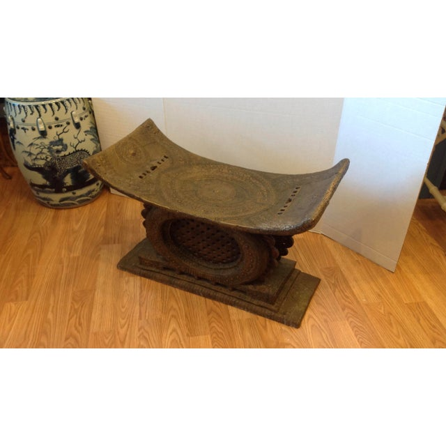 Early 20th Century Ashanti Chief's Bench For Sale - Image 4 of 11