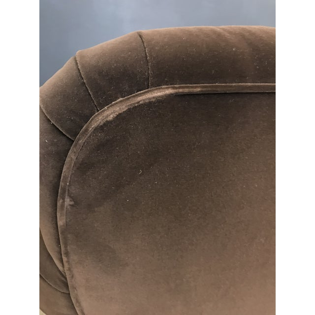 Mocha Brown Velvet Tufted Chesterfield With Fringe by Century Furniture For Sale - Image 11 of 13