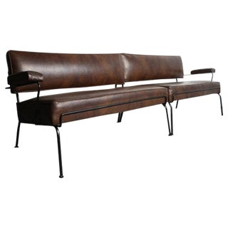 Mid-Century Wrought Iron Sectional For Sale