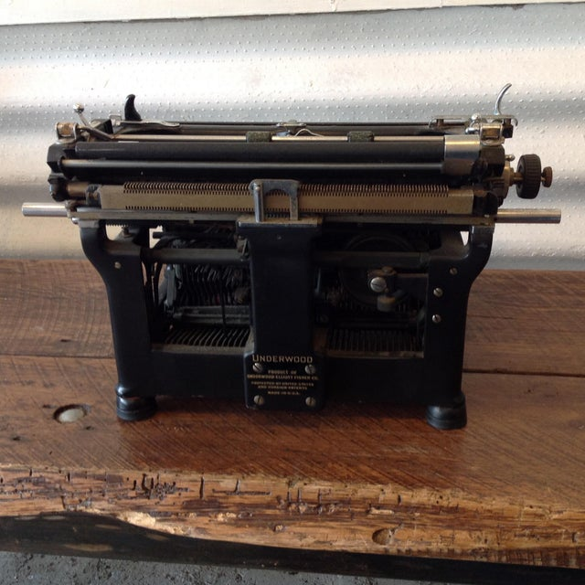 Antique Underwood Typewriter - Underwood No 6 For Sale - Image 5 of 5