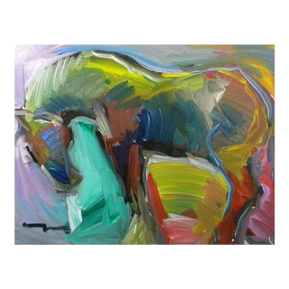 Contemporary Abstract Expressionism Horse Oil Painting by Jose Trujillo