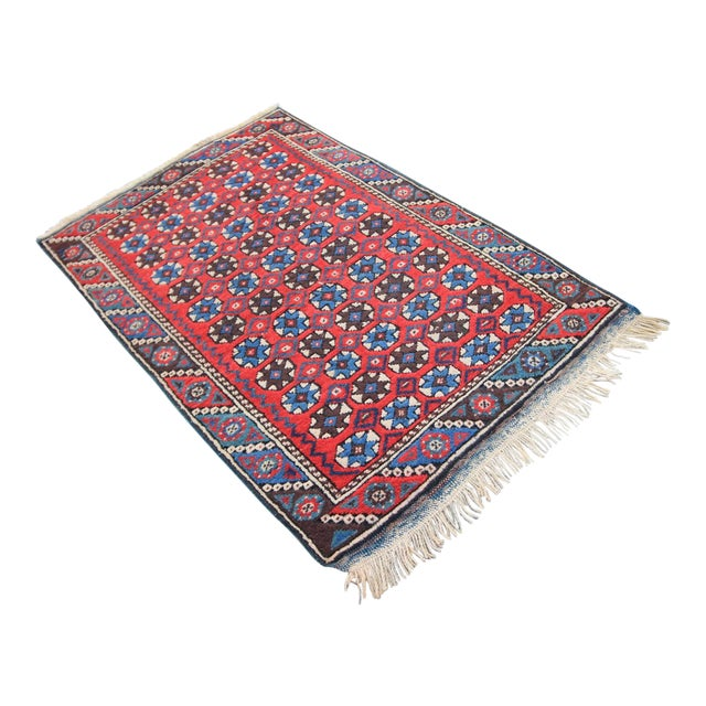 """Antique Tribal Oushak Hand Knotted Turkish Rug - 2'5"""" X 3'8"""" For Sale"""