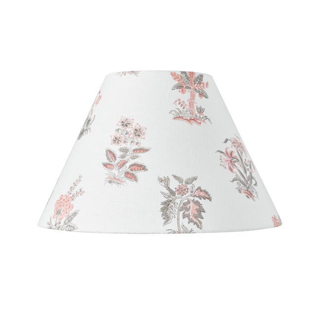 Early 21st Century Schumacher Bunny Linen Lampshade in Rose For Sale - Image 5 of 5
