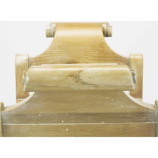 Pair Swedish Rococo Style White Glazed Pine Benches - Image 8 of 10