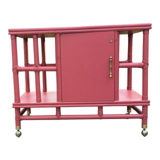 1970s Contemporary Ficks Reed Bar Cart For Sale