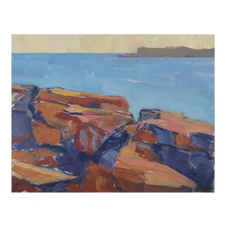 Maine Rock Series 3 Oil Painting