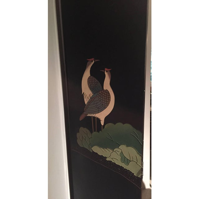 20th Century Chinoiserie Gilt and Black Lacquered 12 Panel Screen For Sale - Image 4 of 8