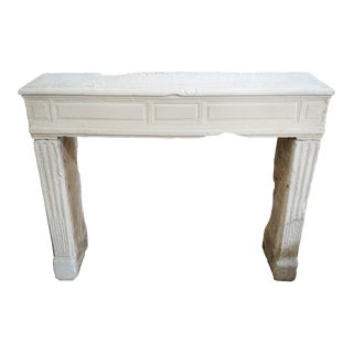 Antique French Limestone Mantel For Sale