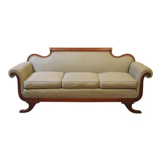Vintage 1930's Duncan Phyfe Style Sofa For Sale