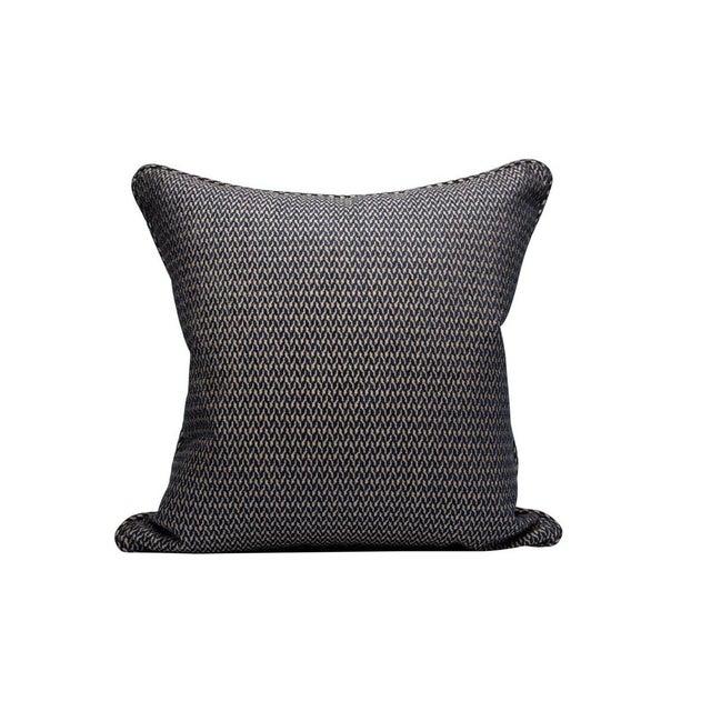 Traditional Cortona Chenille Pillow, Indigo For Sale - Image 3 of 3