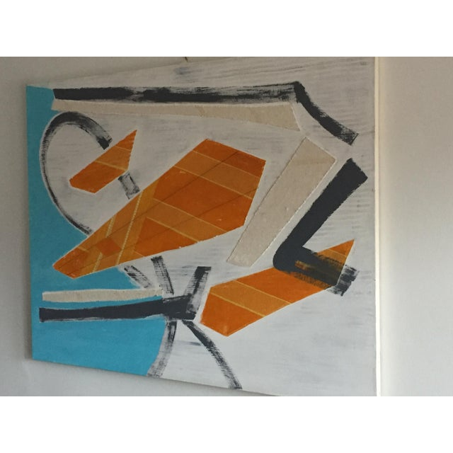 Modern Large Original Mixed Media Modern Art on Canvas For Sale - Image 3 of 8