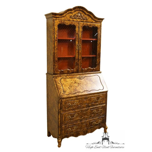 Traditional Late 20th Century Vintage Jasper Cabinet Secretary Desk For Sale - Image 3 of 13