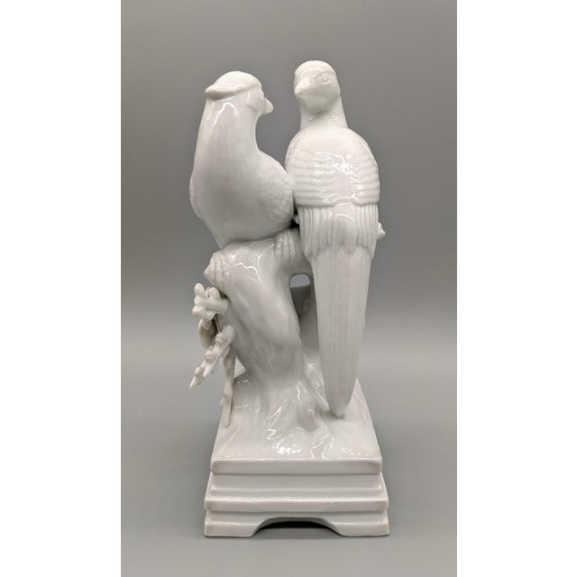 1970s Blanc De Chine Fitz & Floyd Birds and Flowers Figurine For Sale - Image 9 of 10