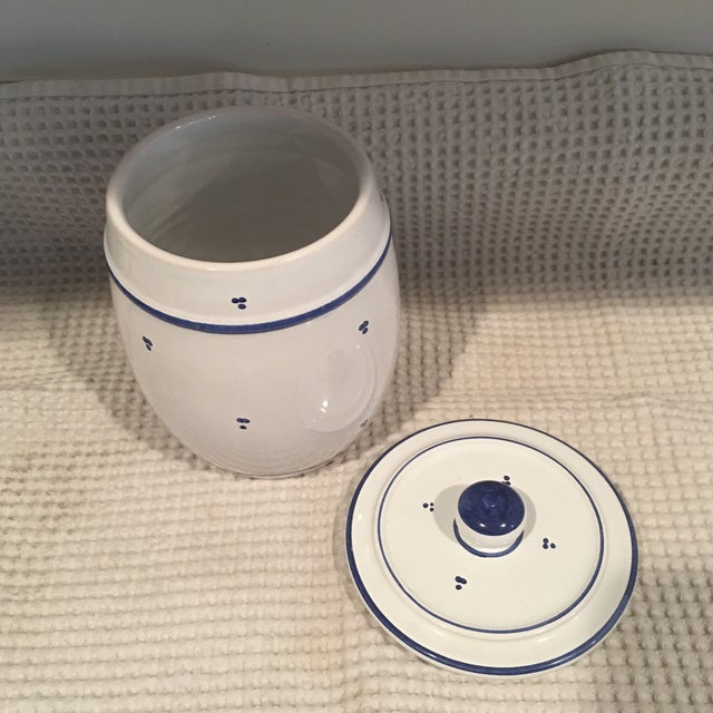 Blue & White Ceramic Canister - Image 4 of 6