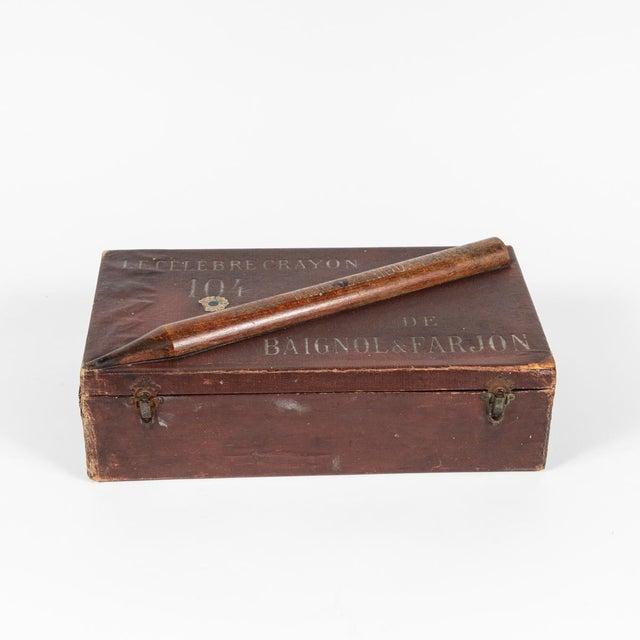 Crayon leather box from England circa 1900.