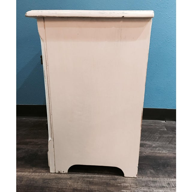 Rustic Ice Box-Style Side Table - Image 4 of 4