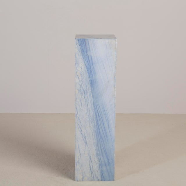 Modern A Rare Italian Blue Marble Pedestal For Sale - Image 3 of 5