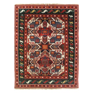 "Pasargad Pak Kazak Lamb's Wool Rug - 5'6"" X 7'1"" For Sale"