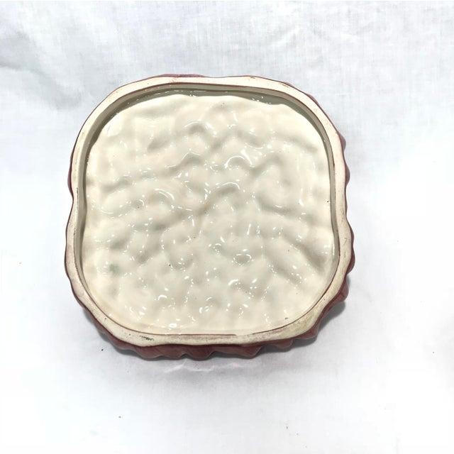 Ceramic Portuguese Majolica Ceramic Asparagus Handled Container For Sale - Image 7 of 8