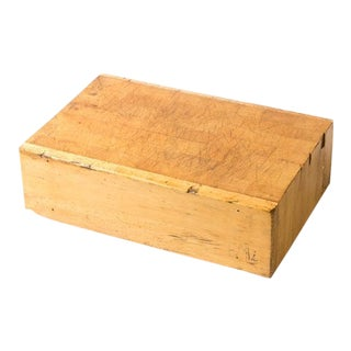Early 20th Century Simple Wood Chopping Block For Sale