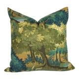 Image of Verdure Print Linen Large Pillow Cover For Sale