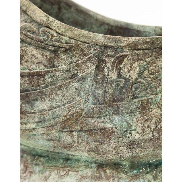 Metal Lawrence & Scott Large Verdigris Bronze Snail Box For Sale - Image 7 of 10