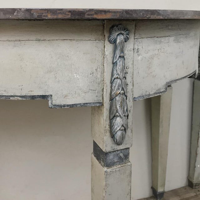 Pair 19th Century Swedish Painted Demilune Consoles For Sale - Image 10 of 13