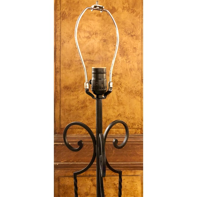 Inside? Outside? Perfect for both since its make of wrought iron. This simple black floor lamp is a perfect example of the...