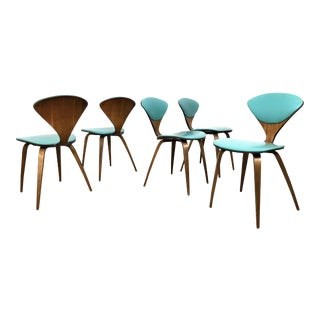 Set of 5 Norman Cherner Plycraft Dining Chairs 1960's