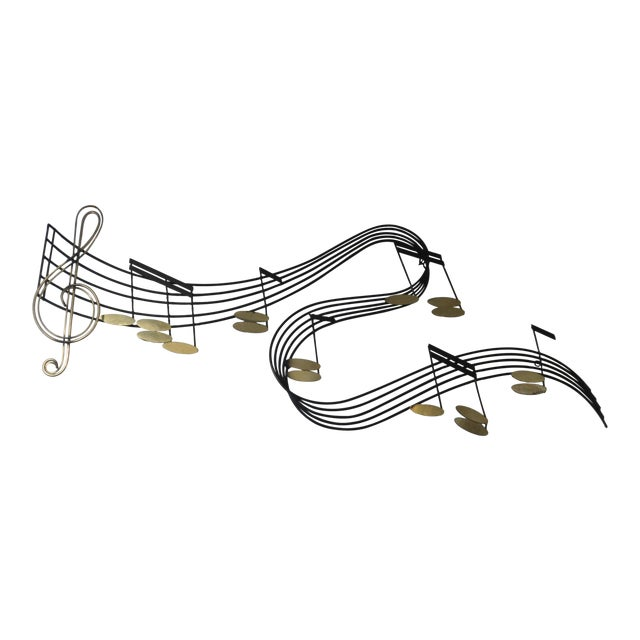 Curtis Jere Metal Musical Notes Wall Sculpture - Image 1 of 4