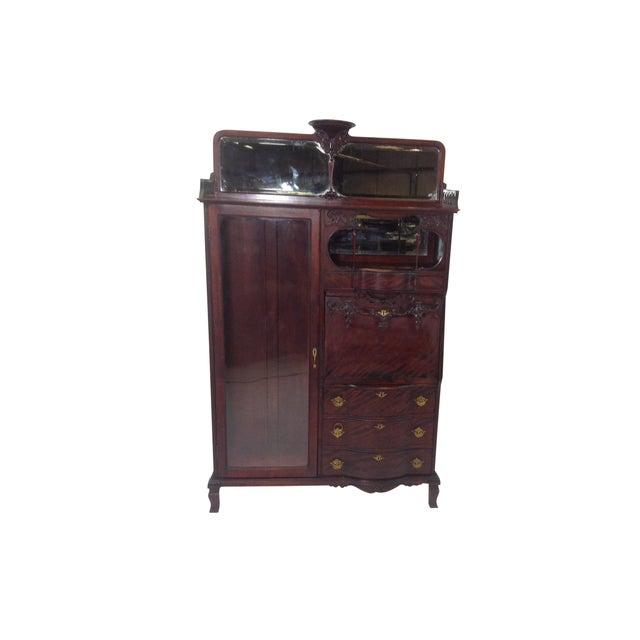 Antique Mahogany Victorian Curio/Desk - Image 1 of 9